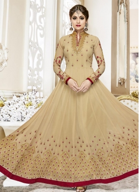 Shamita Shetty Flaring Anarkali Salwar Suit