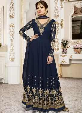 Shamita Shetty Floor Length Anarkali Salwar Suit