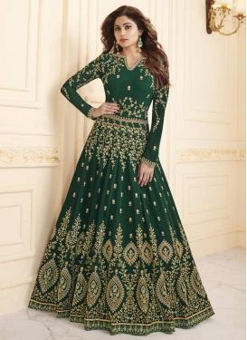 Shamita Shetty Floor Length Anarkali Salwar Suit