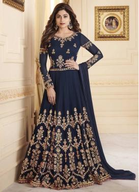 Shamita Shetty Floor Length Anarkali Salwar Suit For Festival