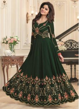 Shamita Shetty Floor Length Anarkali Salwar Suit For Party
