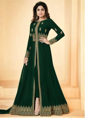 Shamita Shetty Floor Length Designer Salwar Suit