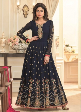Shamita Shetty Long Length Anarkali Salwar Suit For Festival
