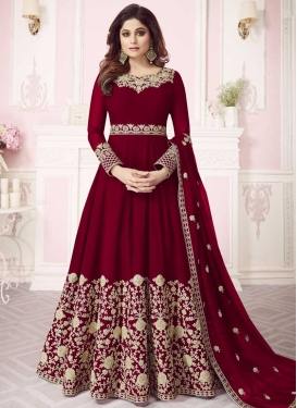 Shamita Shetty Long Length Anarkali Suit For Ceremonial