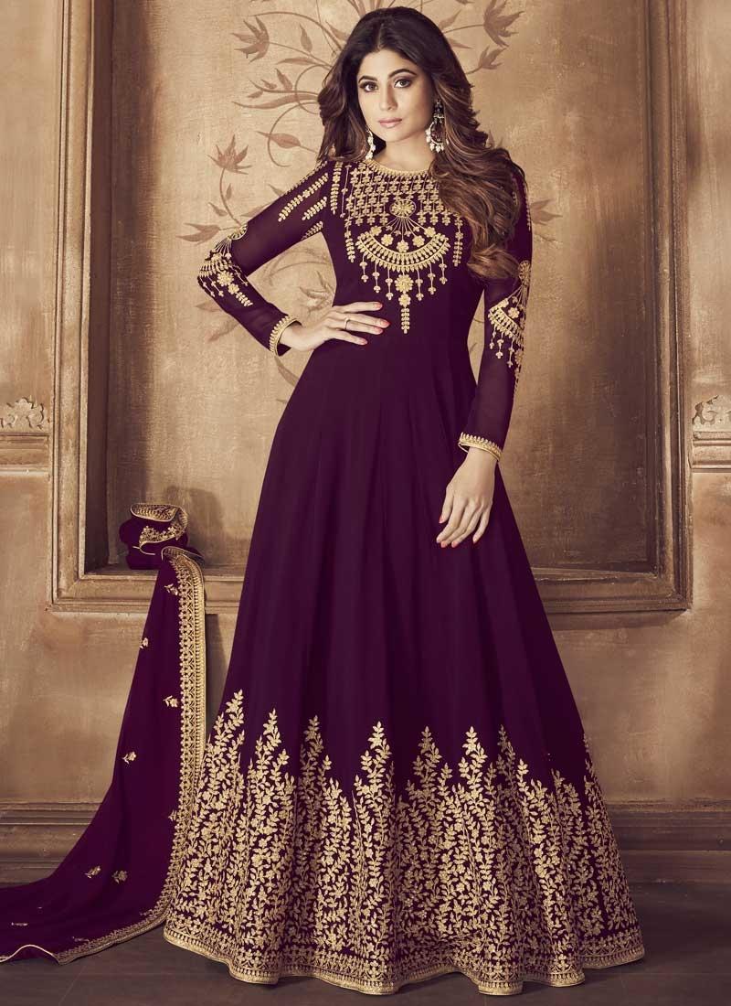 914a91f690 Buy Shamita Shetty Long Length Anarkali Suit For Ceremonial Online