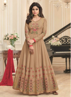 Shamita Shetty Long Length Designer Anarkali Suit For Ceremonial