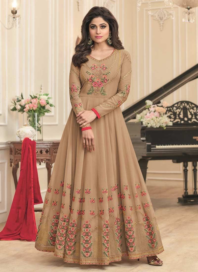 a09a2cd95a Buy Shamita Shetty Long Length Designer Anarkali Suit For Ceremonial ...