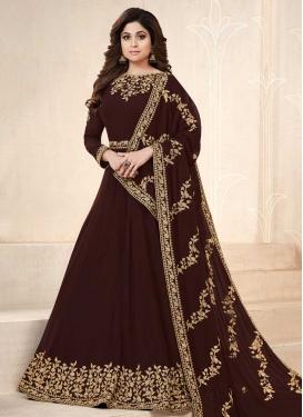 Shamita Shetty Long Length Designer Anarkali Suit For Festival