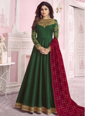 Shamita Shetty Long Length Designer Anarkali Suit For Party