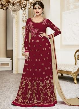 Shamita Shetty Long Length Designer Suit