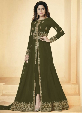 Shamita Shetty Long Length Designer Suit