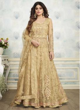 Shamita Shetty Net Kameez Style Lehenga Choli