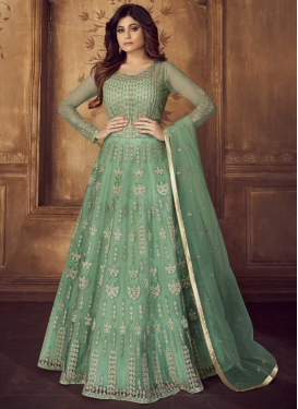 Shamita Shetty Net Long Length Anarkali Suit