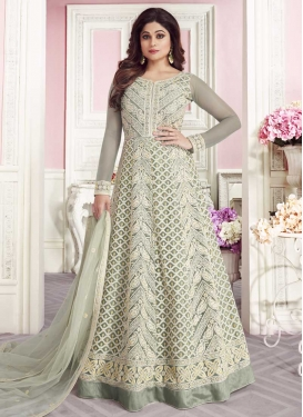 Shamita Shetty Net Long Length Designer Anarkali Suit