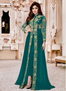 Shamita Shetty Pant Style Designer Salwar Suit For Ceremonial