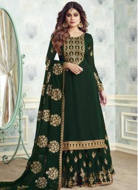 Shamita Shetty Sharara Salwar Kameez