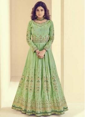 Shamita Shetty Trendy Anarkali Salwar Kameez For Festival
