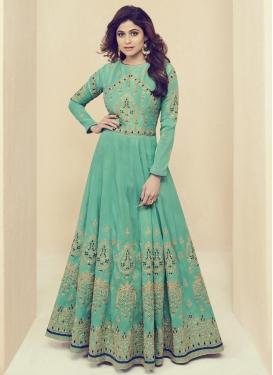 Shamita Shetty Trendy Designer Salwar Kameez