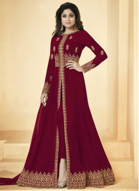 Shamita Shetty Trendy Designer Salwar Suit For Ceremonial