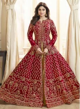 Shamita Shetty Trendy Designer Salwar Suit For Festival