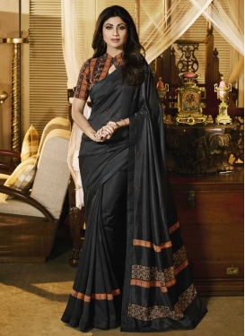 Shilpa Shetty Art Silk Contemporary Style Saree