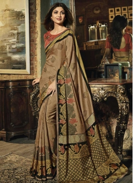 Shilpa Shetty Art Silk Designer Contemporary Saree