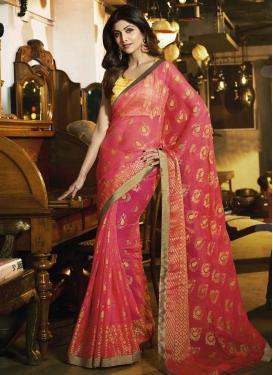 Shilpa Shetty Brasso Lace Work Traditional Designer Saree