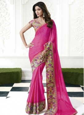 Shilpa Shetty Designer Contemporary Saree