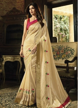 Shilpa Shetty Embroidered Work Designer Traditional Saree