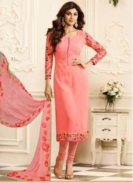 Shilpa Shetty Embroidered Work Salwar Kameez