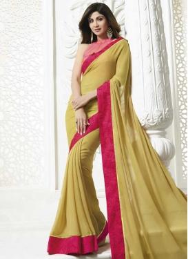 Shilpa Shetty Faux Georgette Designer Contemporary Style Saree
