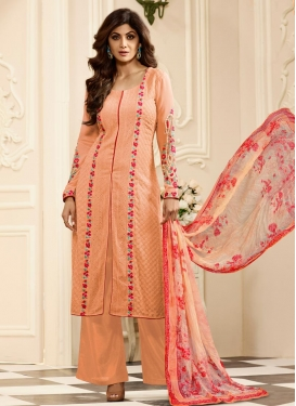 Shilpa Shetty Faux Georgette Palazzo Designer Suit