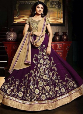 Shilpa Shetty Floor Length Anarkali Salwar Suit For Festival
