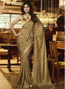 Shilpa Shetty Lace Work Trendy Classic Saree