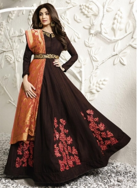 Shilpa Shetty Long Length Designer Suit
