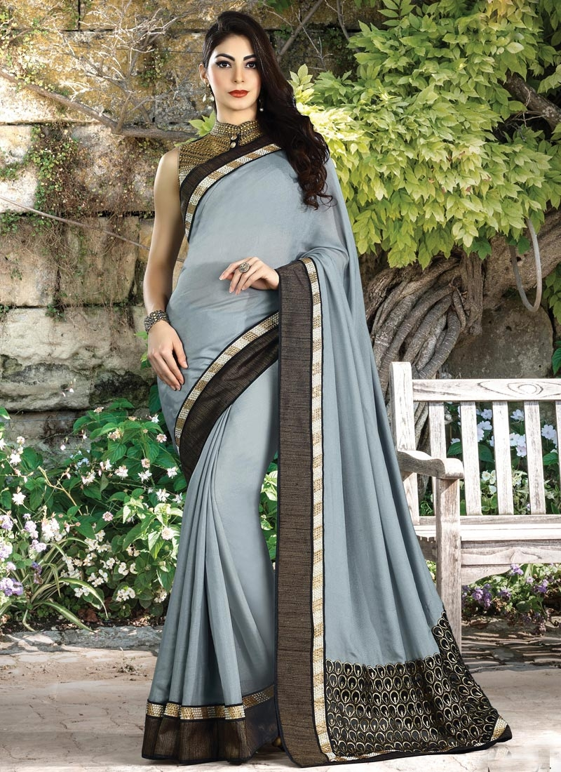 Shimmer Georgette Trendy Classic Saree