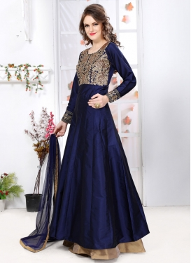 Sightly  Embroidered Work Anarkali Salwar Kameez