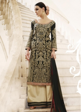 Sightly  Faux Georgette Designer Palazzo Salwar Suit