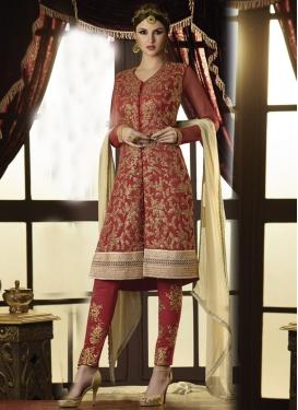 Sightly Resham Work Pant Style Designer Salwar Kameez