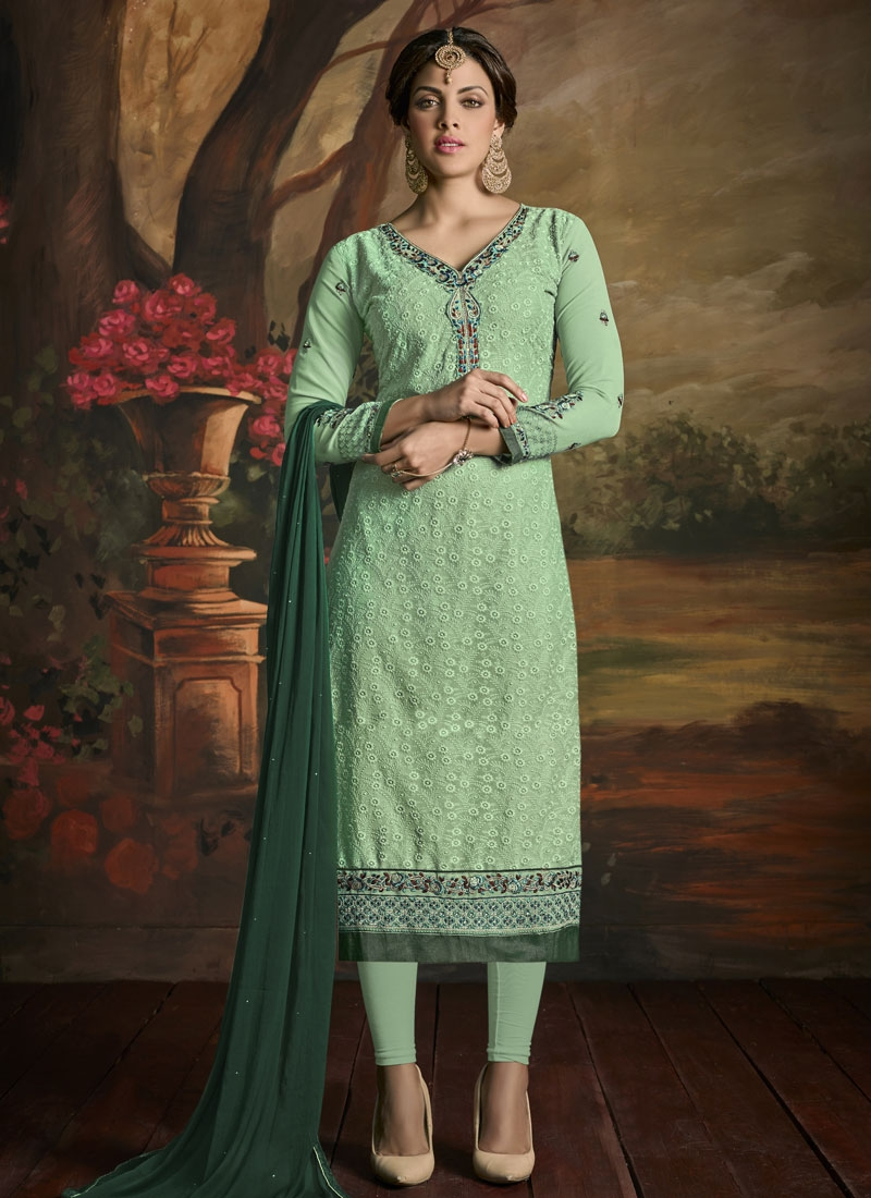 Sightly Resham Work Party Wear Salwar Kameez