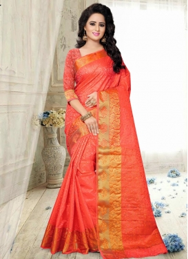 Sightly Thread Work Trendy Classic Saree