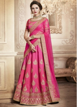 Silk A Line Lehenga Choli For Festival