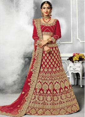 Silk A - Line Lehenga For Bridal