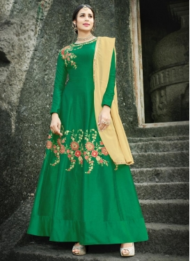 Silk Anarkali Salwar Kameez For Festival