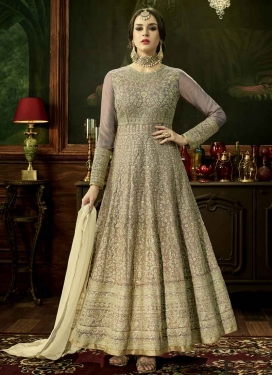 Silk Anarkali Salwar Suit For Festival
