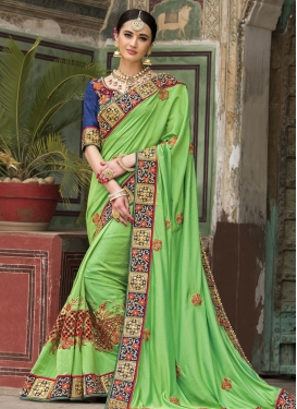 Silk Beads Work Classic Saree