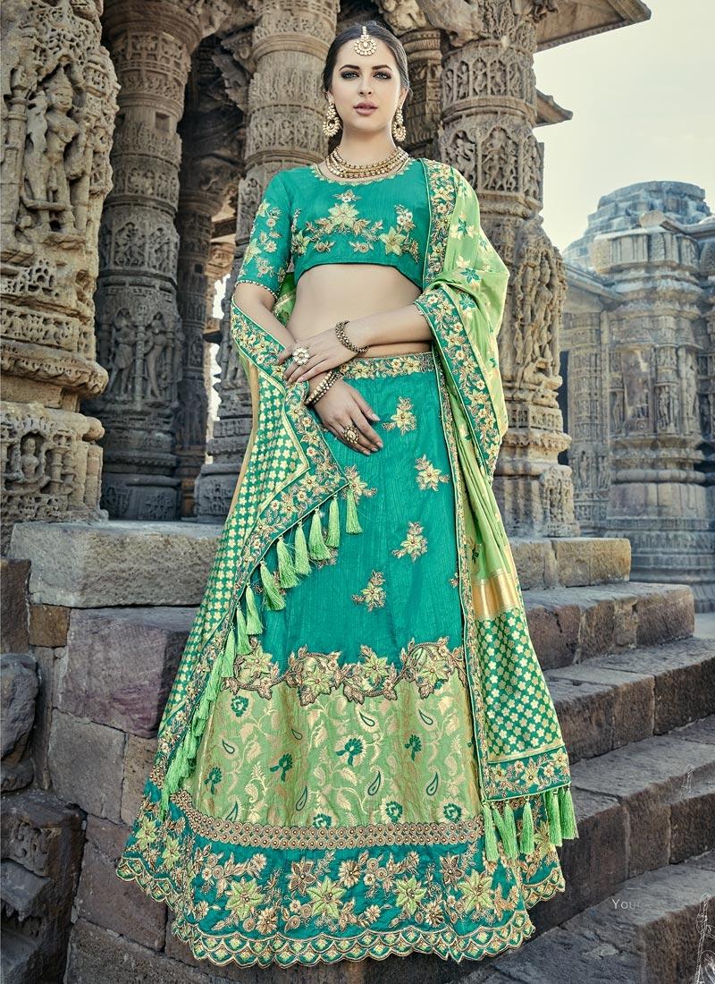 Silk Beads Work Designer Classic Lehenga Choli