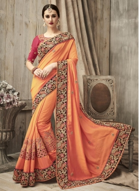 Silk Beads Work Traditional Designer Saree