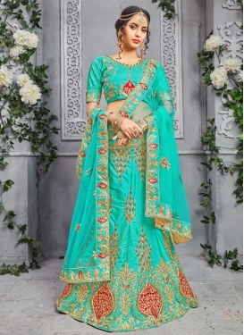 Silk Booti Work Trendy Lehenga Choli