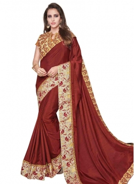 Silk Contemporary Saree For Ceremonial